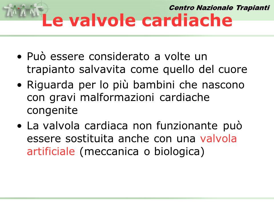 Le valvole cardiache Può essere considerato a volte un trapianto salvavita come quello del cuore.