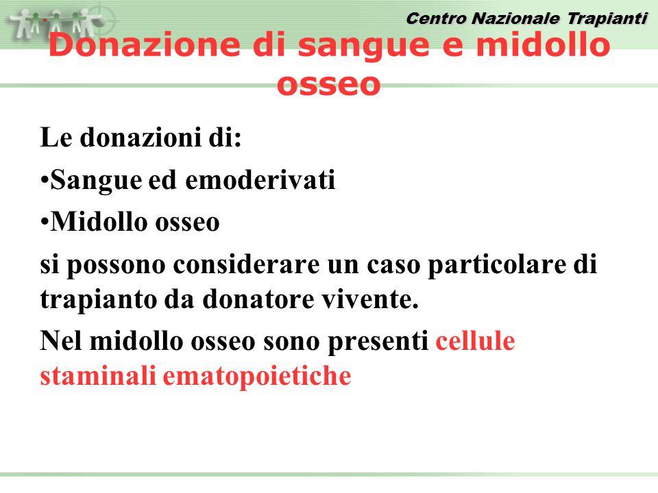Donazione di sangue e midollo osseo