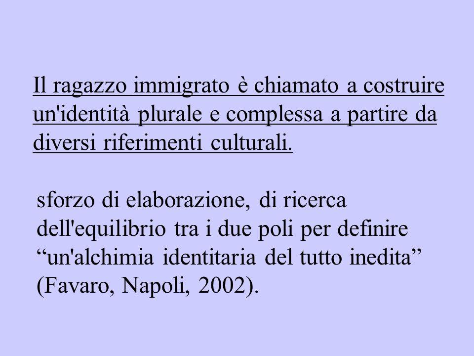 Il ragazzo immigrato è chiamato a costruire un identità plurale e complessa a partire da diversi riferimenti culturali.