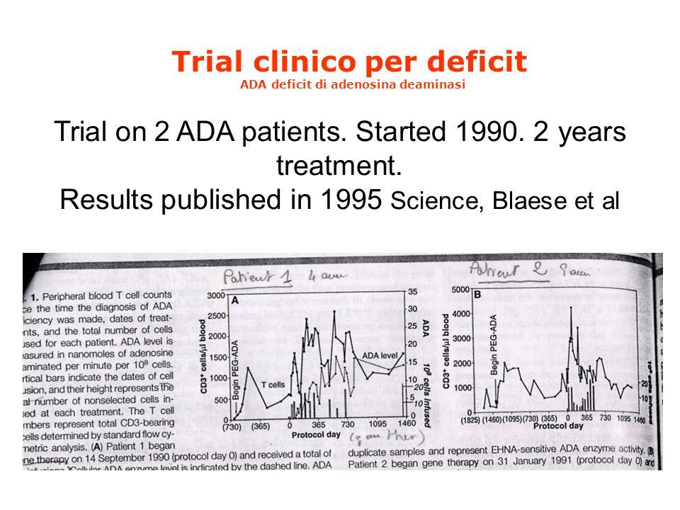 Trial clinico per deficit ADA deficit di adenosina deaminasi