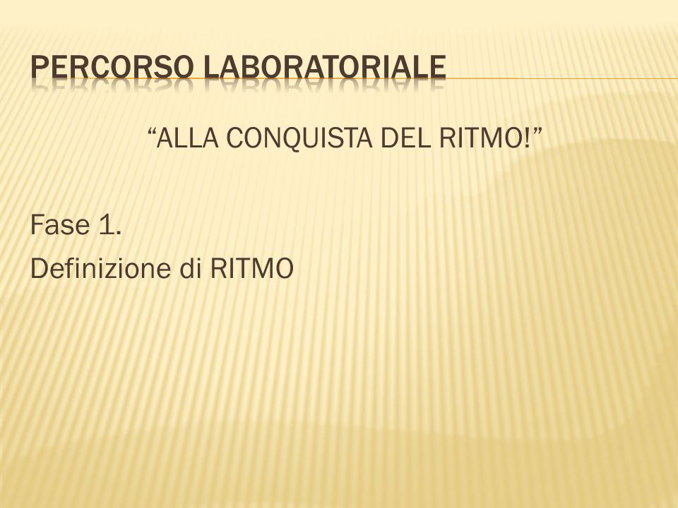 Percorso laboratoriale