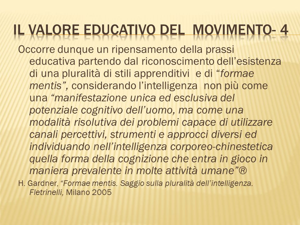 Il valore educativo del movimento- 4