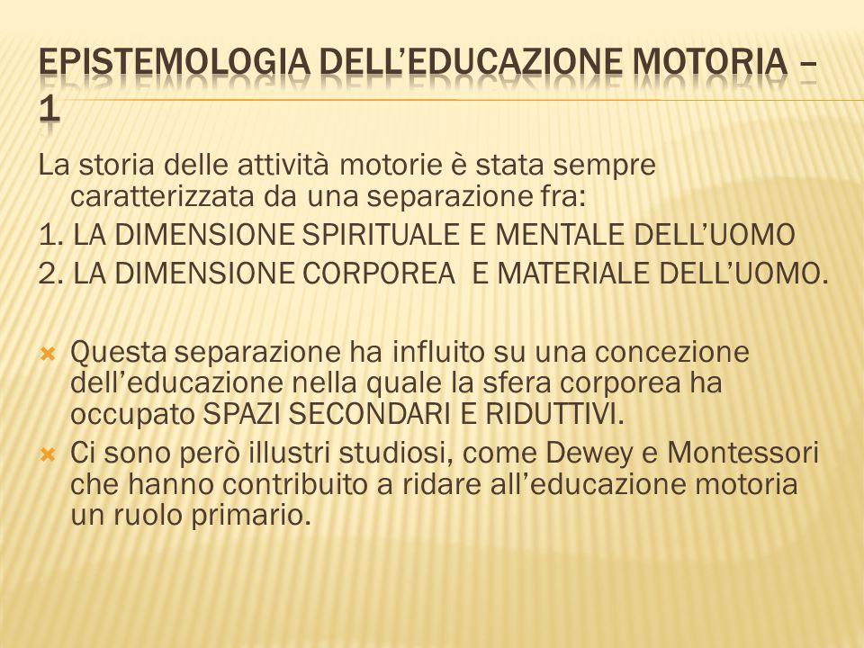Epistemologia dell'educazione motoria – 1