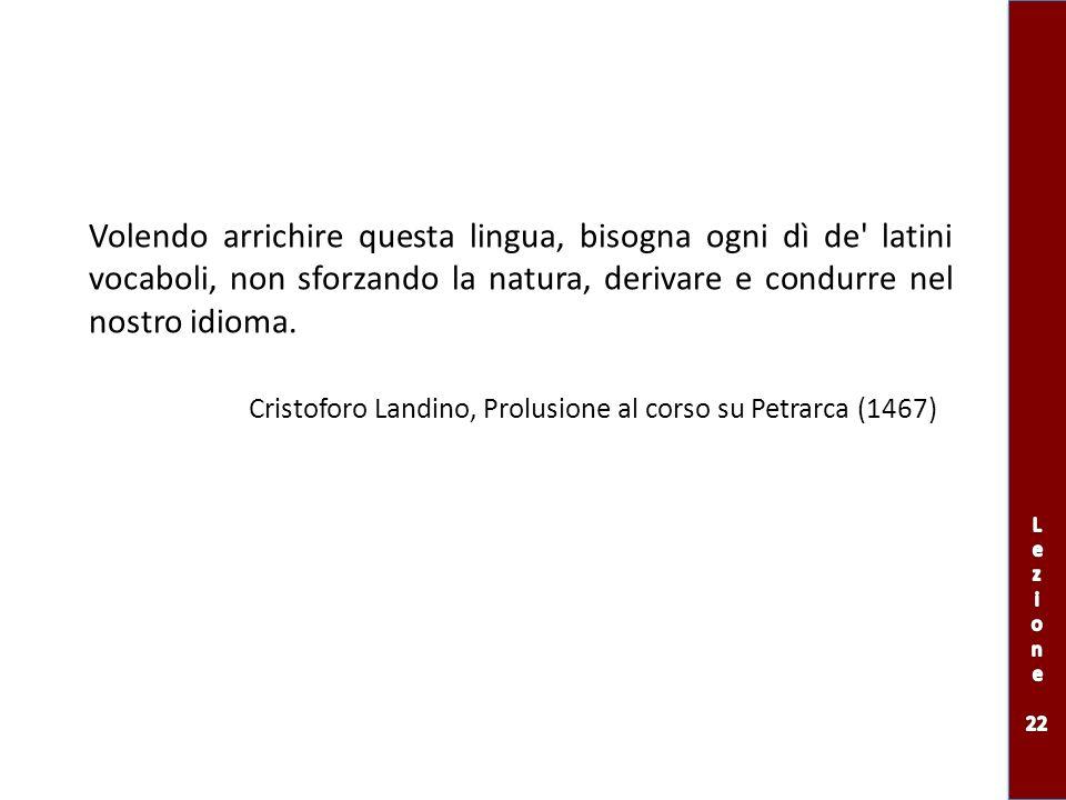 Cristoforo Landino, Prolusione al corso su Petrarca (1467)