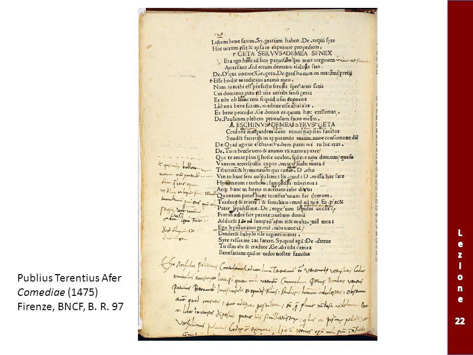 Publius Terentius Afer Comediae (1475) Firenze, BNCF, B. R. 97