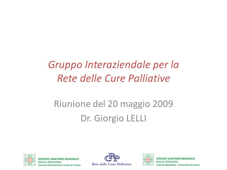 Gruppo Interaziendale per la Rete delle Cure Palliative