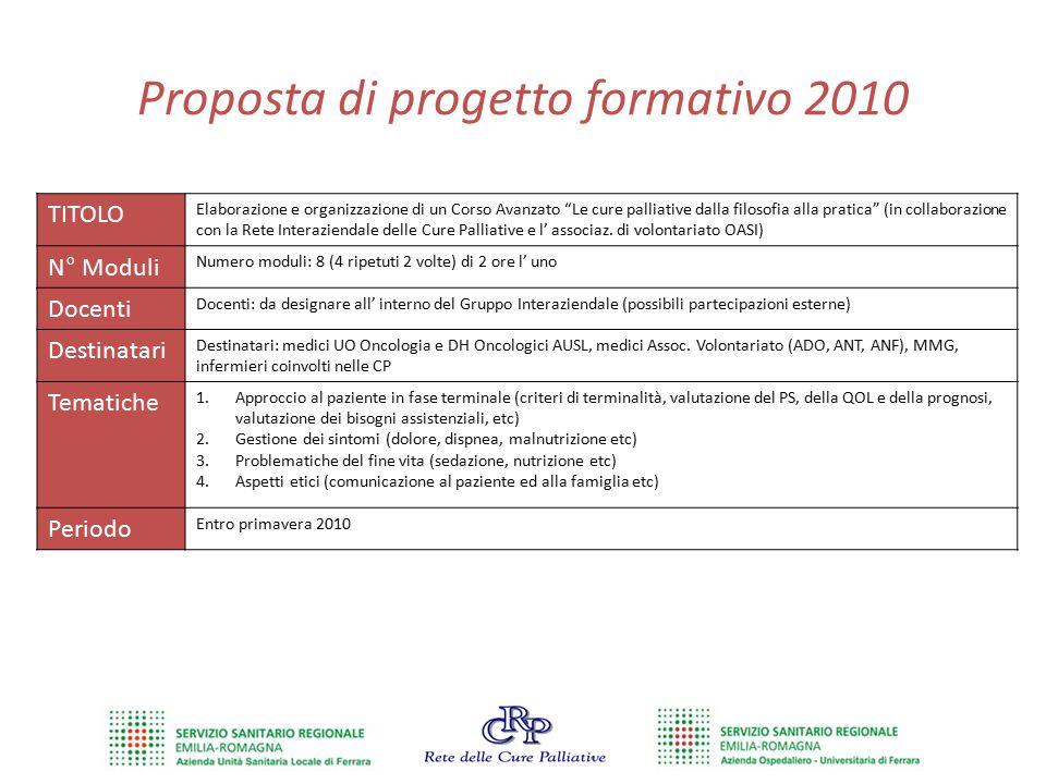 Proposta di progetto formativo 2010
