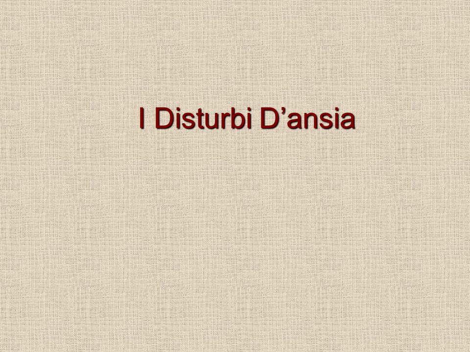 I Disturbi D'ansia