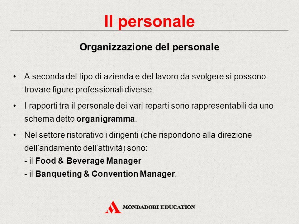 Il personale Organizzazione del personale