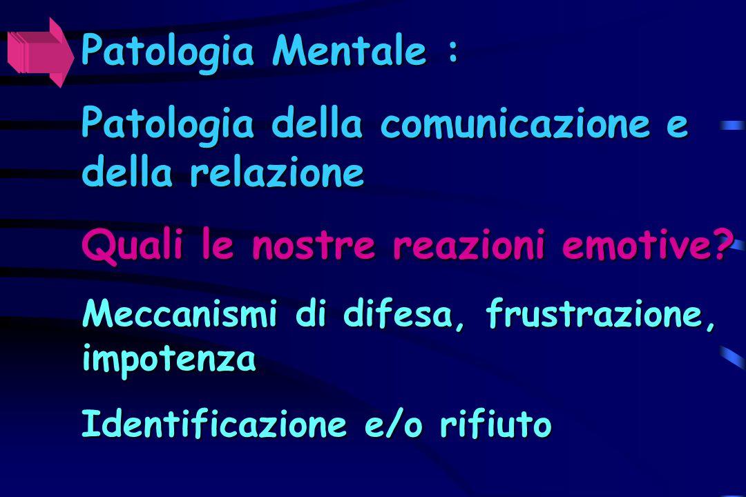 Patologia della comunicazione e della relazione