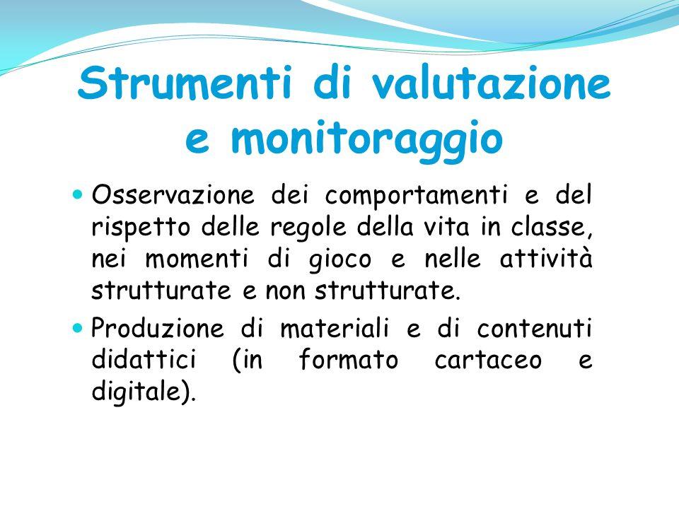 Strumenti di valutazione e monitoraggio