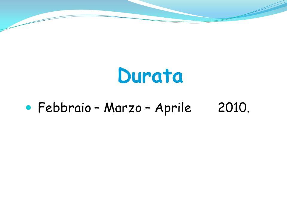 Febbraio – Marzo – Aprile 2010.
