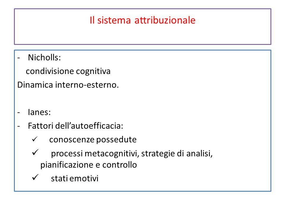 Il sistema attribuzionale