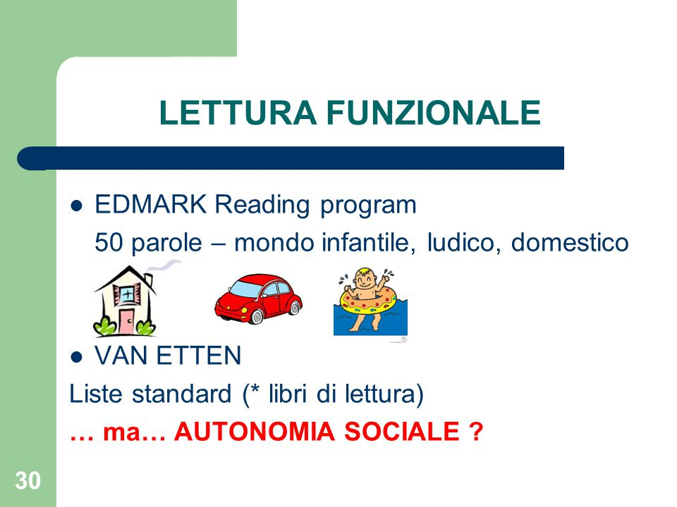 LETTURA FUNZIONALE EDMARK Reading program