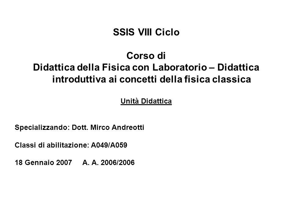 SSIS VIII Ciclo Corso di