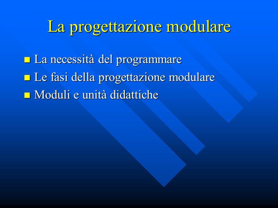 La progettazione modulare