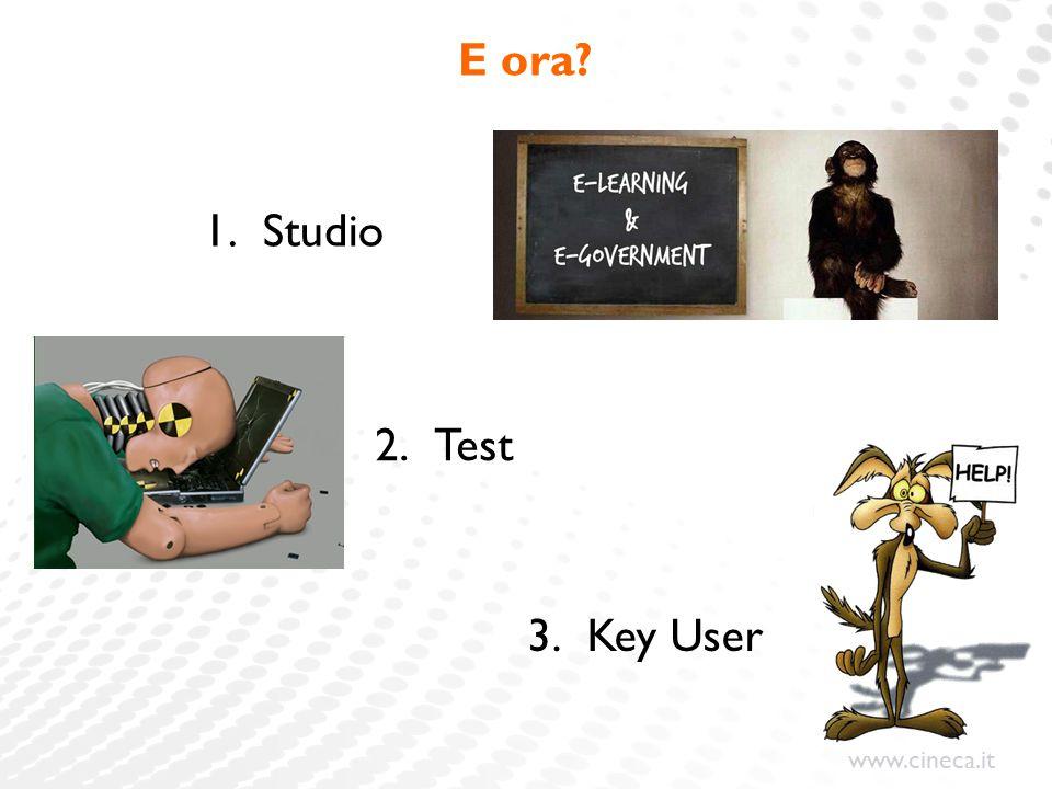 E ora Studio Test Key User Una volta che sarete nel vostro ufficio…