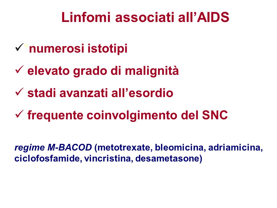 Linfomi associati all'AIDS
