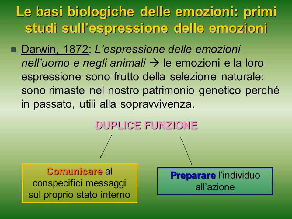 Le basi biologiche delle emozioni: primi studi sull'espressione delle emozioni