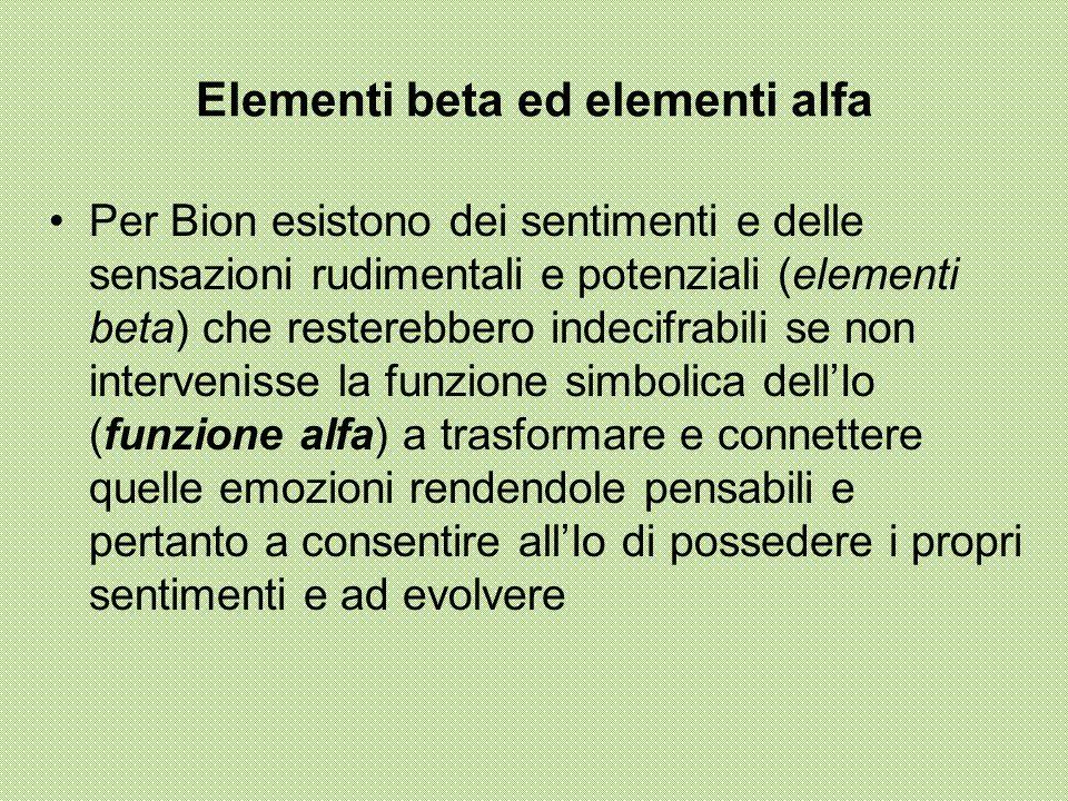 Elementi beta ed elementi alfa