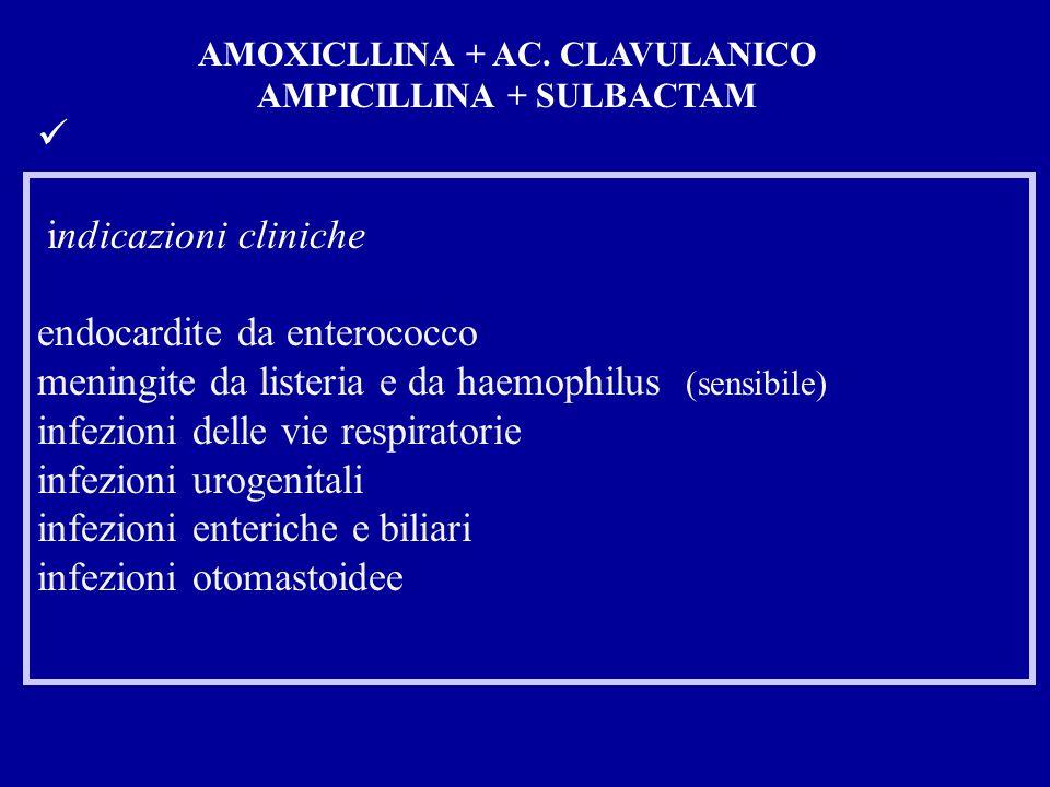 AMOXICLLINA + AC. CLAVULANICO AMPICILLINA + SULBACTAM