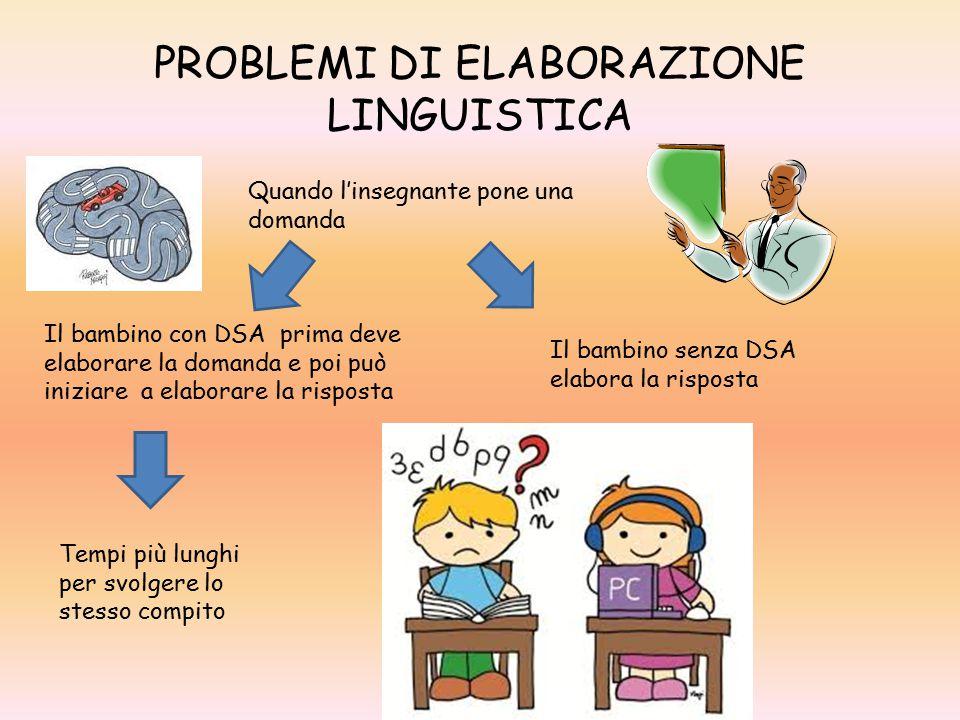PROBLEMI DI ELABORAZIONE LINGUISTICA