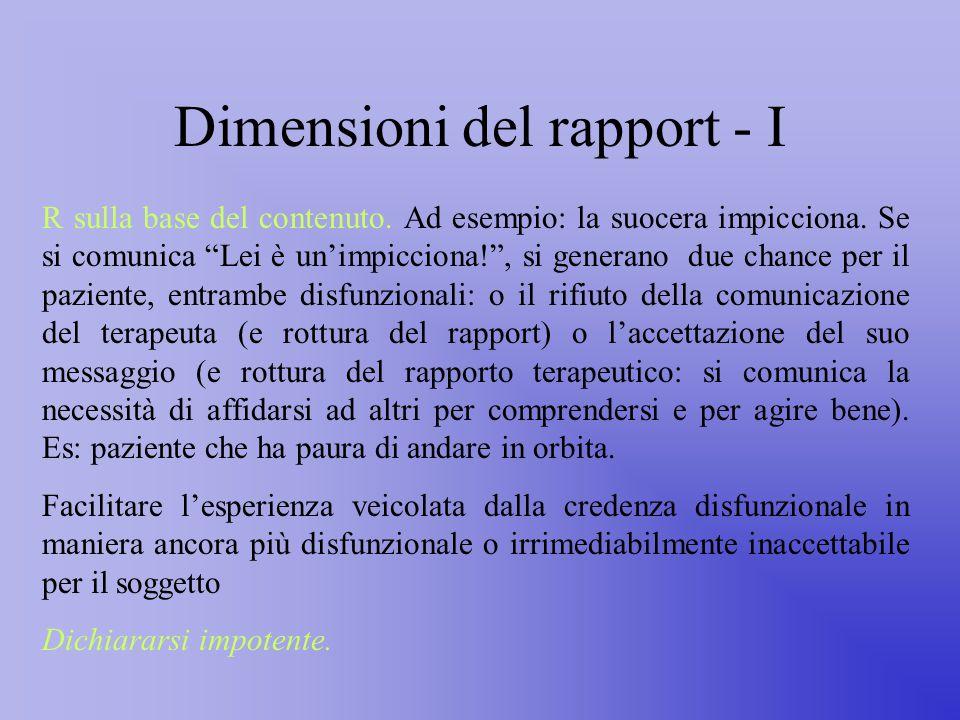 Dimensioni del rapport - I