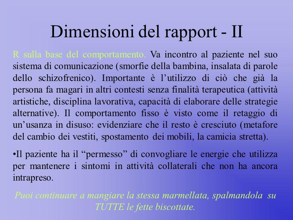 Dimensioni del rapport - II