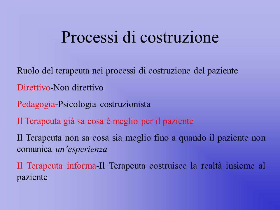 Processi di costruzione