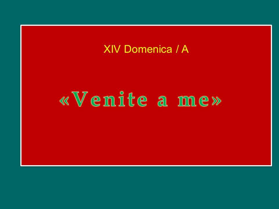 XIV Domenica / A «Venite a me»