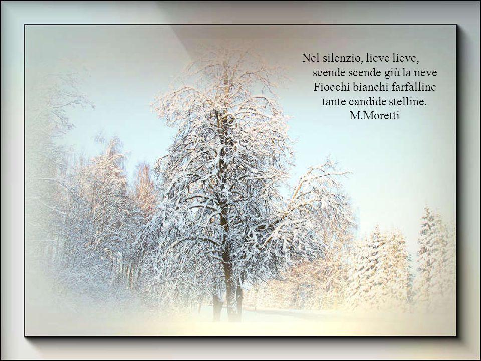 Nel silenzio, lieve lieve, scende scende giù la neve