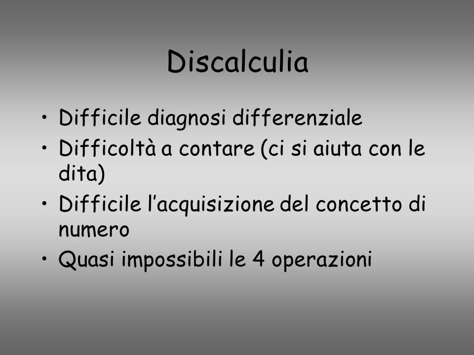 Discalculia Difficile diagnosi differenziale