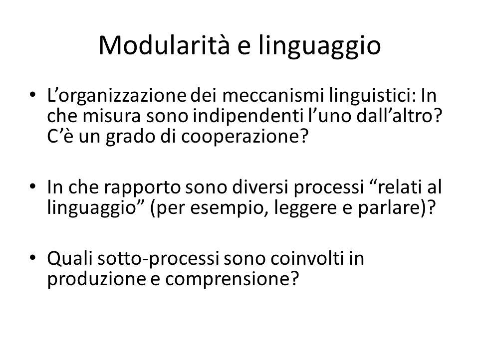 Modularità e linguaggio