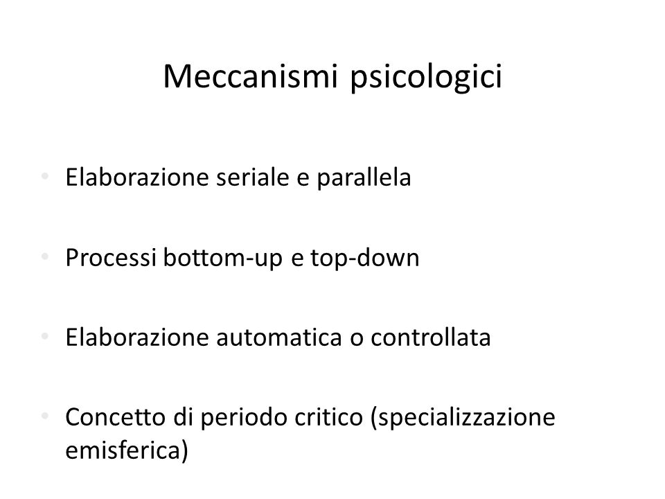 Meccanismi psicologici