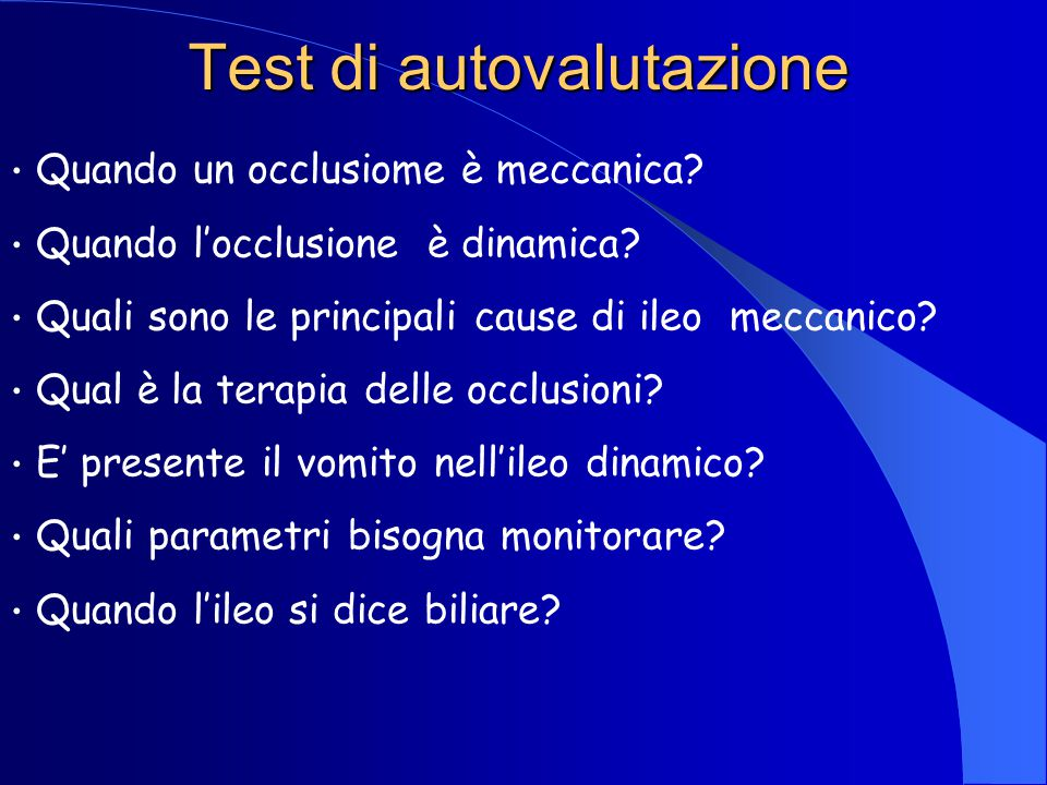 Test di autovalutazione