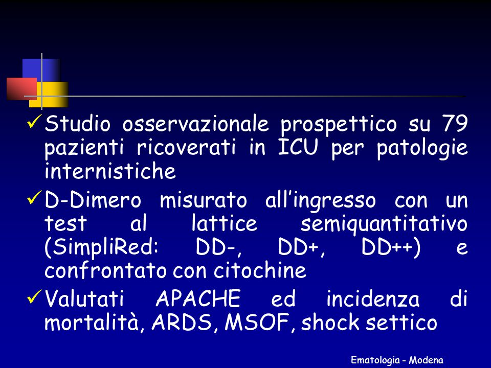 Valutati APACHE ed incidenza di mortalità, ARDS, MSOF, shock settico
