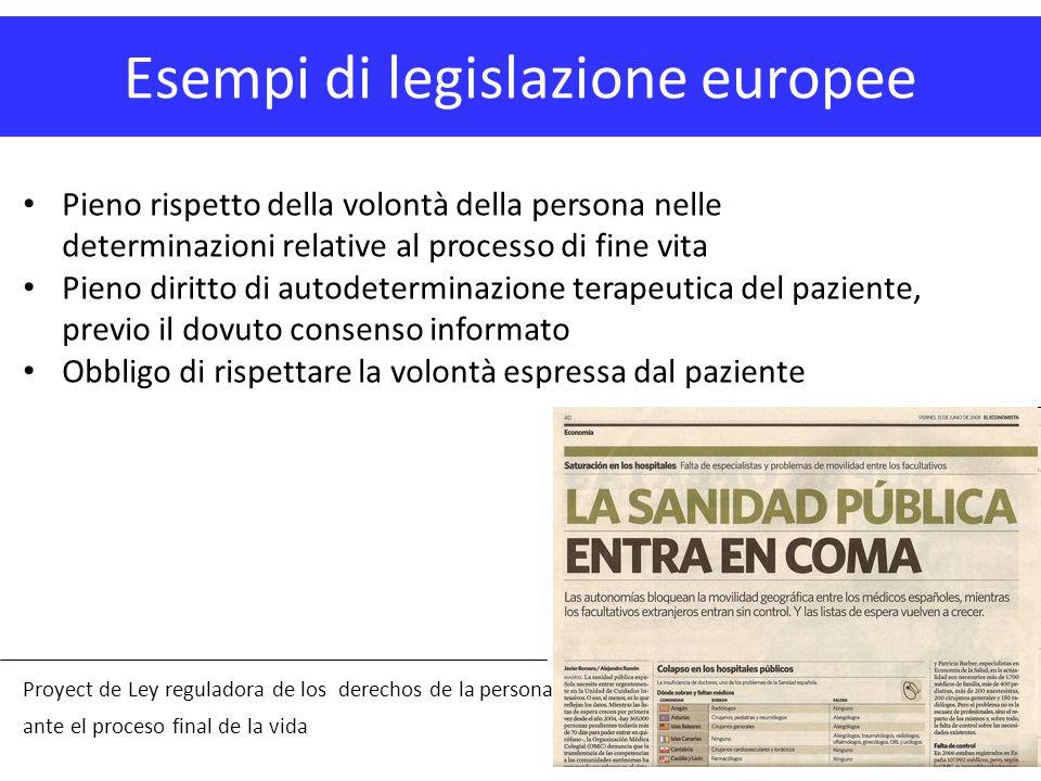 Esempi di legislazione europee