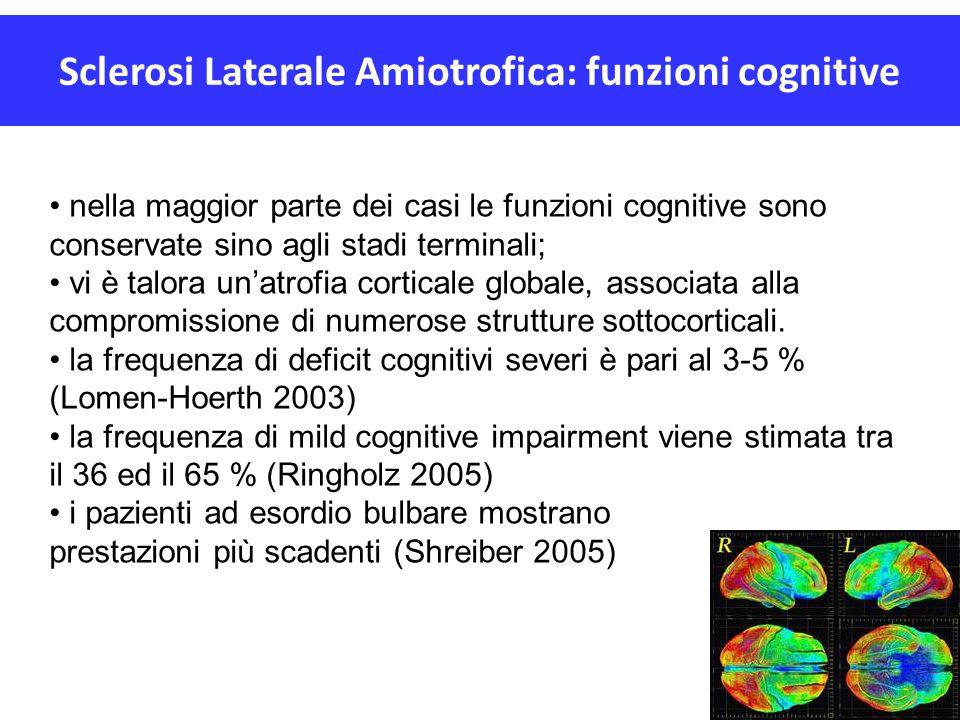 Sclerosi Laterale Amiotrofica: funzioni cognitive