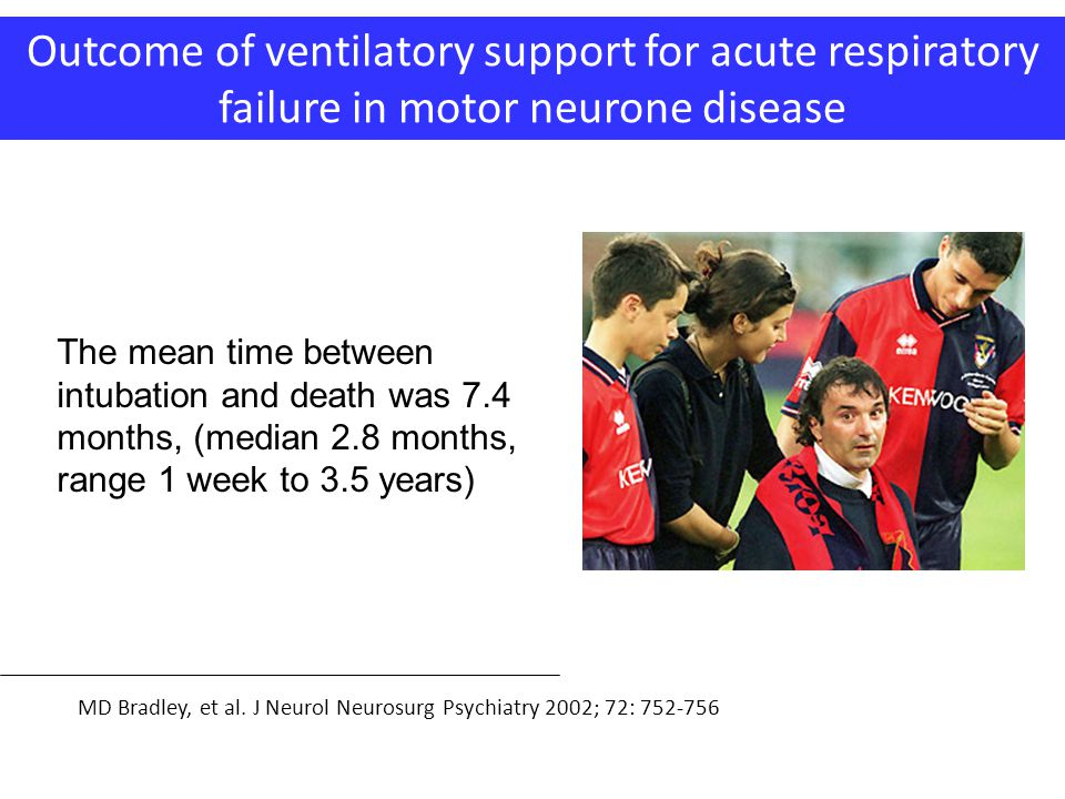 Outcome of ventilatory support for acute respiratory failure in motor neurone disease