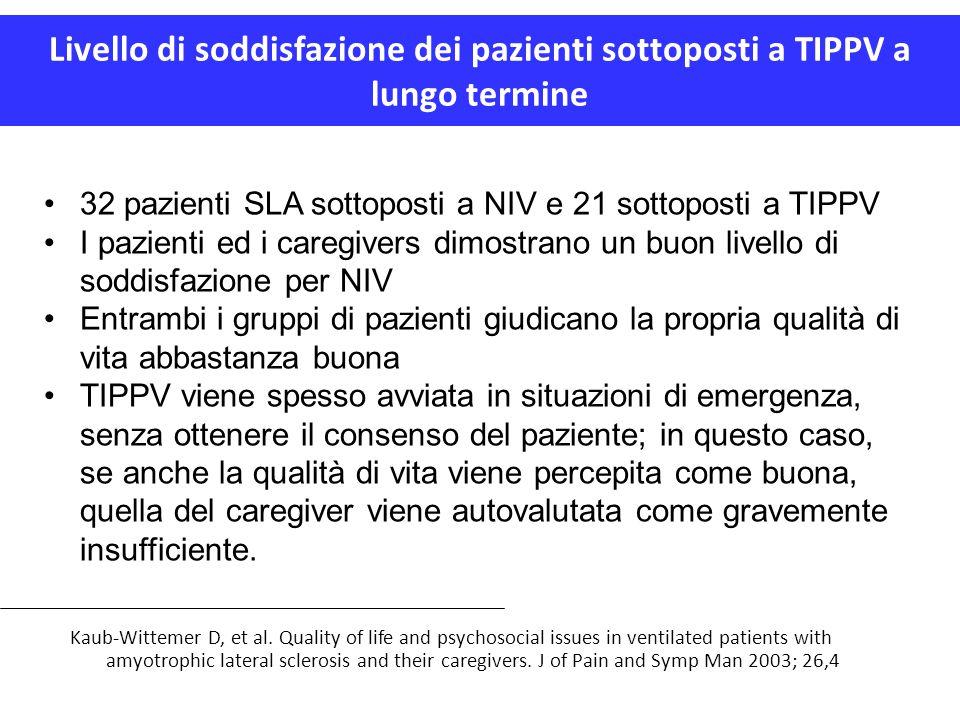 Livello di soddisfazione dei pazienti sottoposti a TIPPV a lungo termine