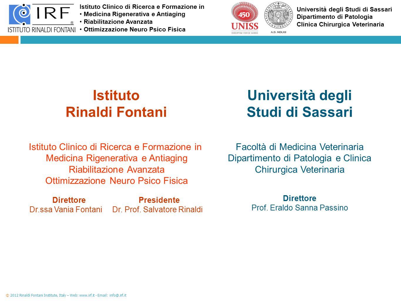 Istituto Rinaldi Fontani Università degli Studi di Sassari