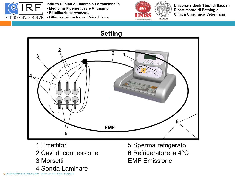 6 Refrigeratore a 4°C EMF Emissione
