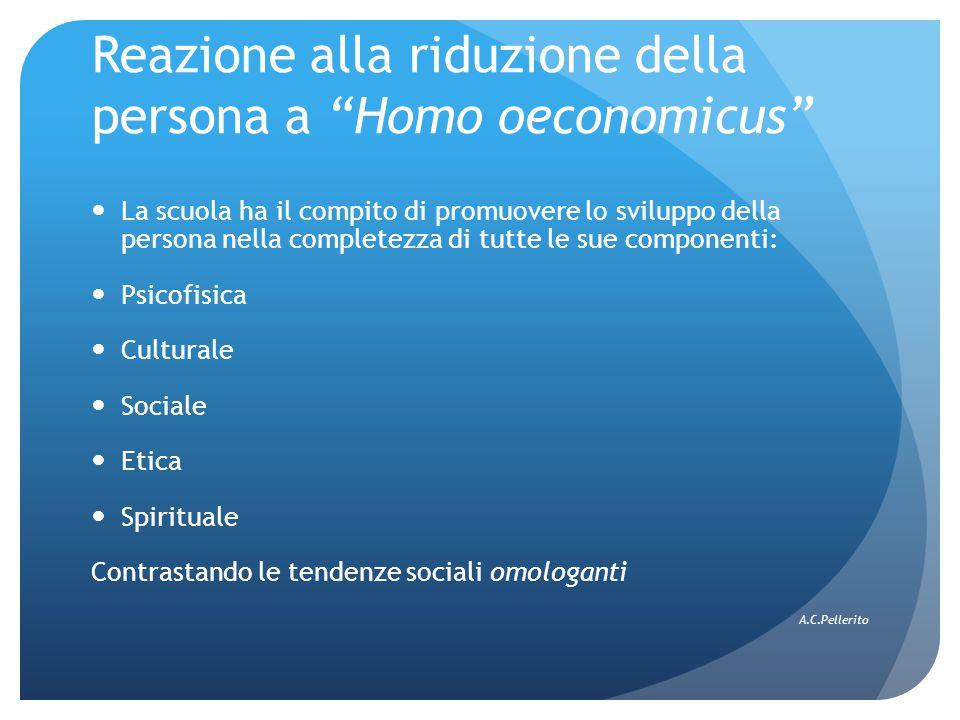 Reazione alla riduzione della persona a Homo oeconomicus