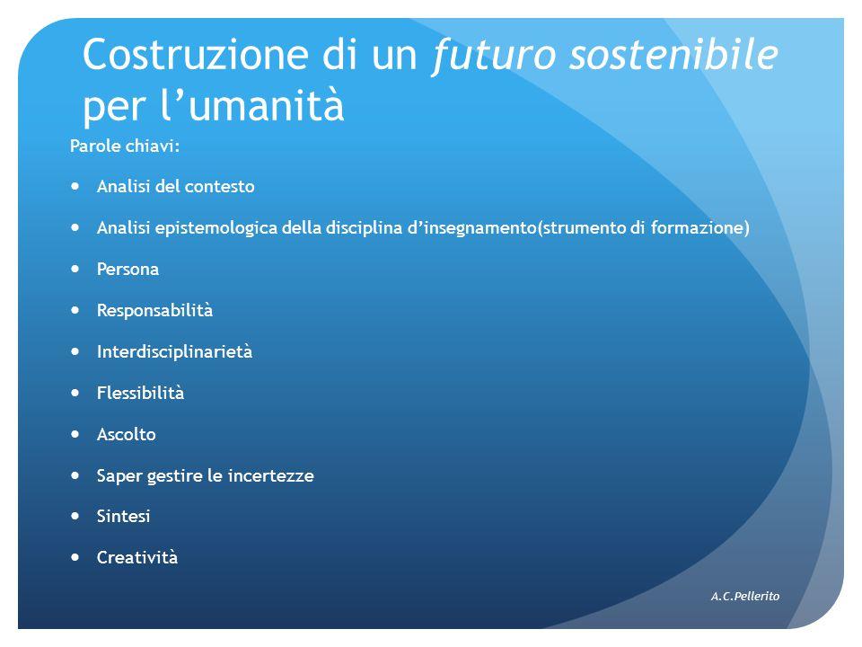 Costruzione di un futuro sostenibile per l'umanità