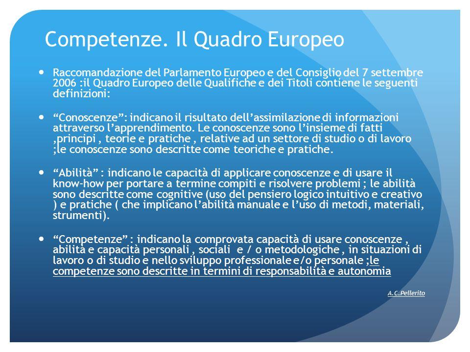 Competenze. Il Quadro Europeo
