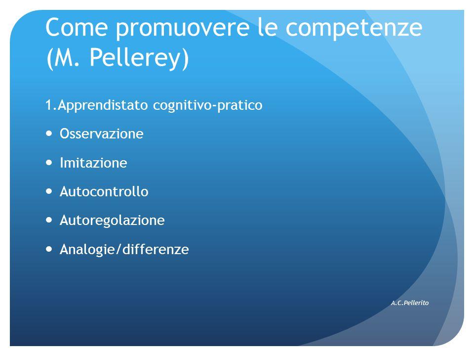 Come promuovere le competenze (M. Pellerey)
