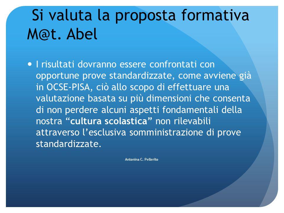 Si valuta la proposta formativa M@t. Abel