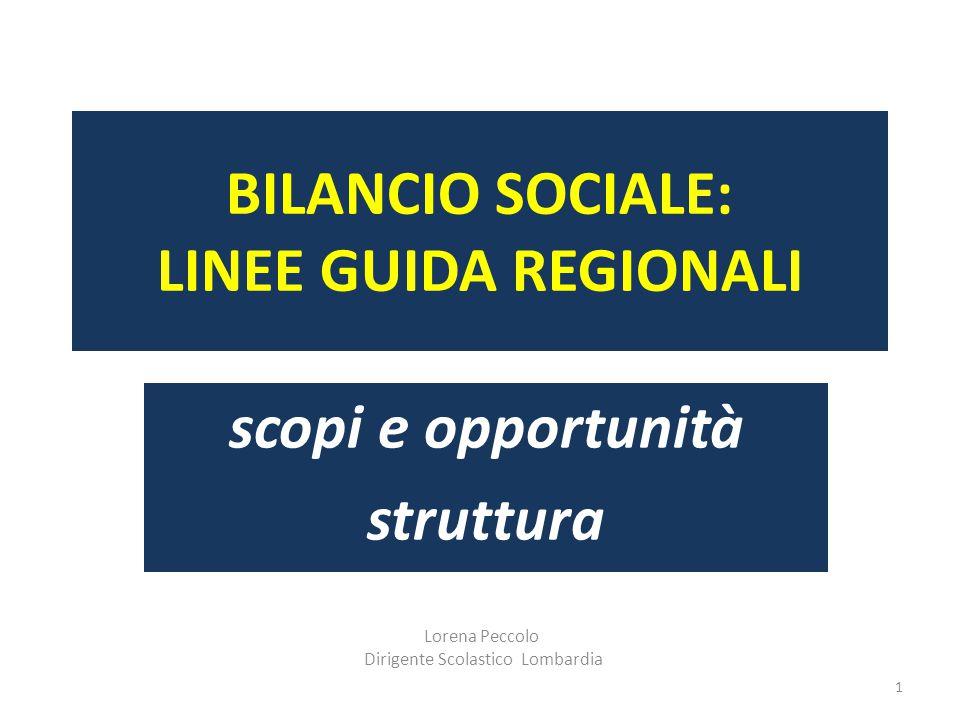 BILANCIO SOCIALE: LINEE GUIDA REGIONALI