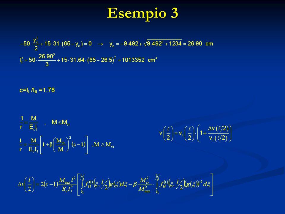 Esempio 3 c=II /III =1.78