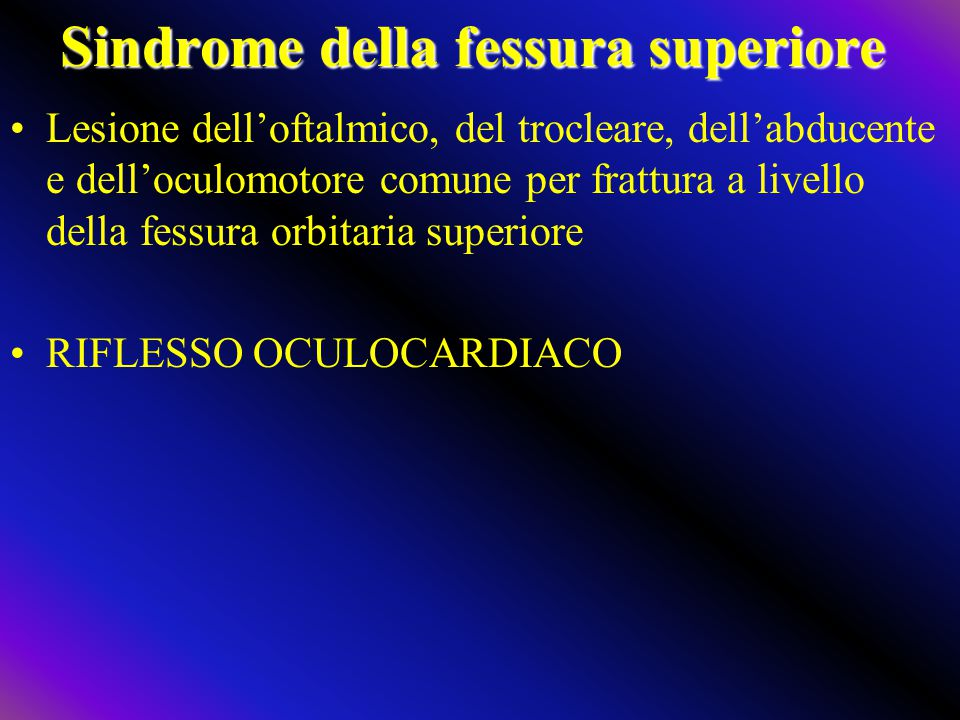 Sindrome della fessura superiore